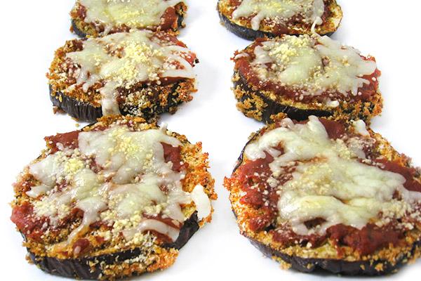 eggplant parmesan pizzas