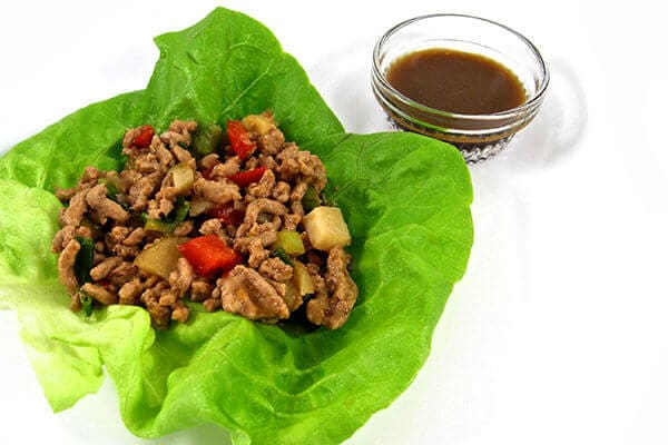Low Carb Chicken Lettuce Wraps with Weight Watchers Points