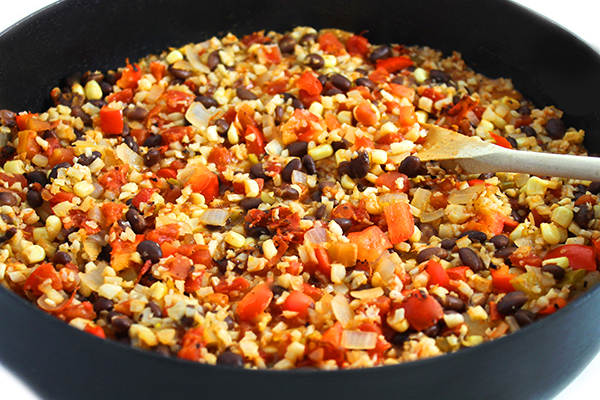 Healthy Mexican Cauliflower Rice And Beans With Weight Watchers