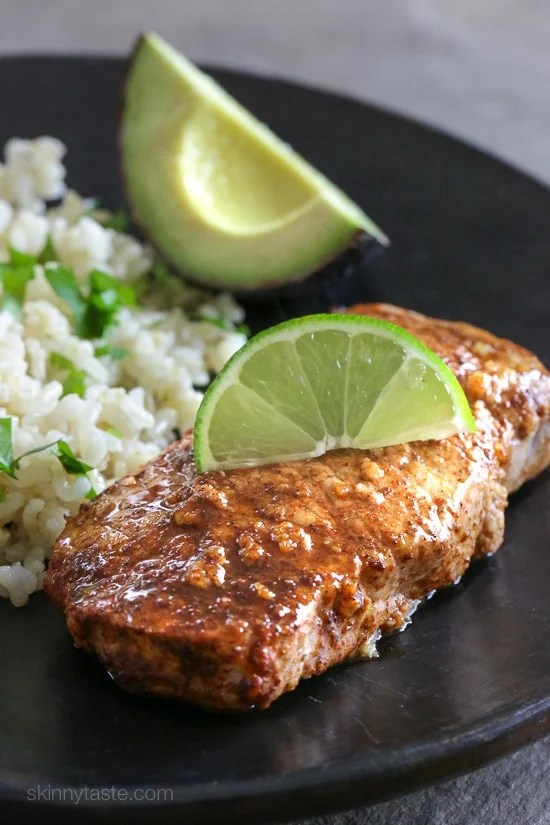 Quick Garlic Lime Marinated Pork Chops