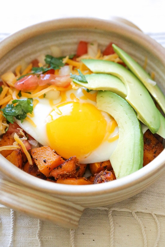 Weight Watchers Breakfast Burrito Bowl With Spiced Butternut Squash