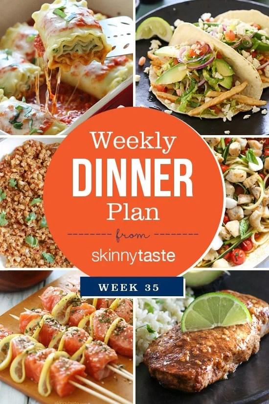 Skinnytaste Dinner Plan (Week 35)