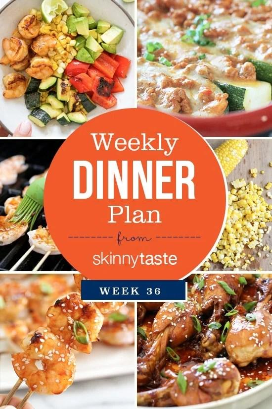 Skinnytaste Dinner Plan Week 36