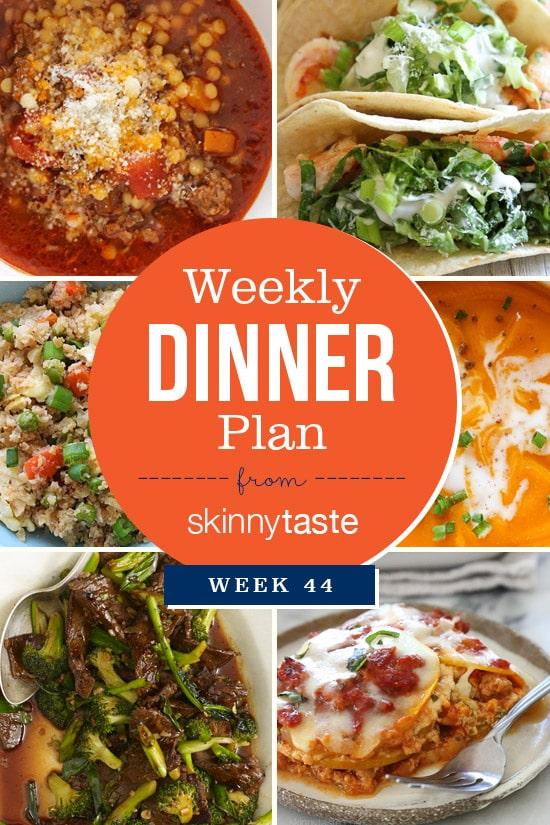 Skinnytaste Dinner Plan (Week 44)
