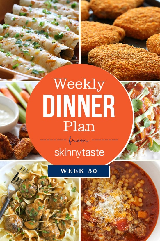 Skinnytaste Dinner Plan (Week 50)