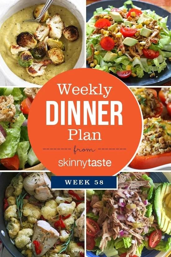 Skinnytaste Dinner Plan (Week 58)