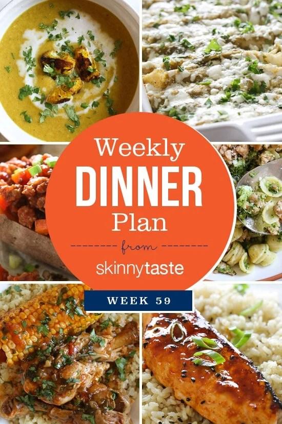 Skinnytaste Dinner Plan (Week 59)