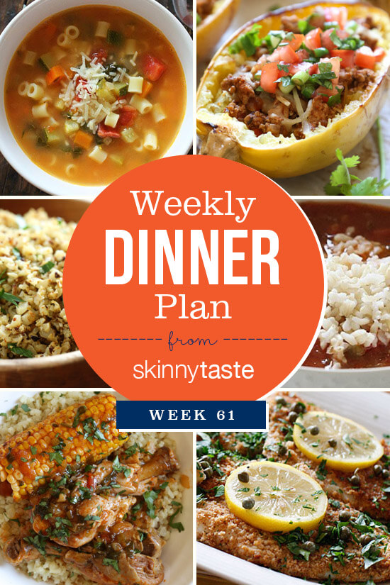 Skinnytaste Dinner Plan (Week 61)
