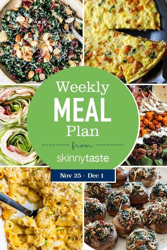 Skinnytaste Meal Plan (November 25-December 1)