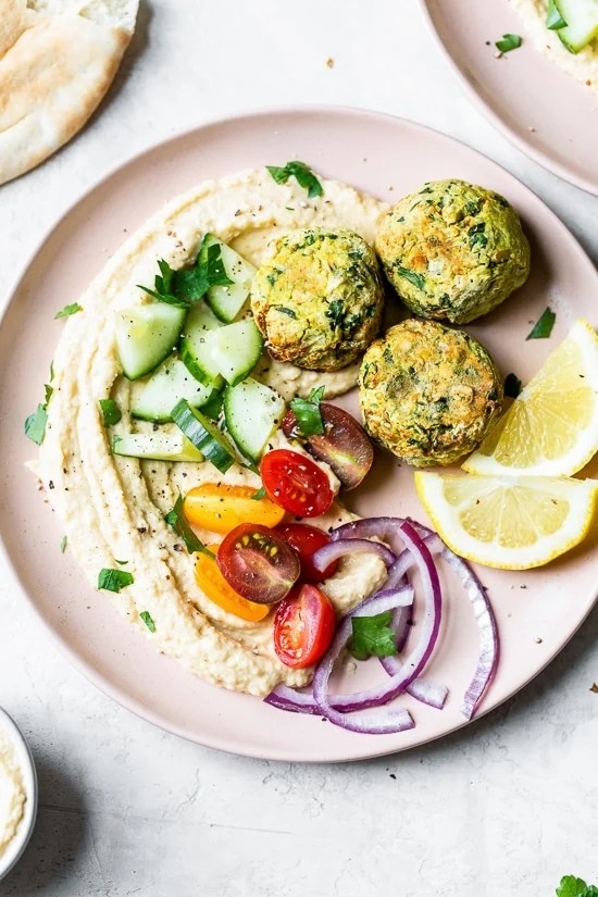 This easy Falafel recipe is made quicker and healthier in the air fryer with canned chickpeas – no deep frying!