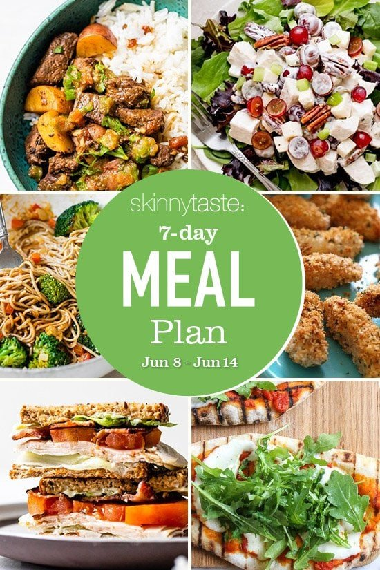 7 day healthy meal plan june 8 14