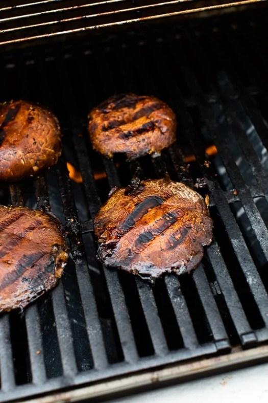 portobello mushrooms on the grill