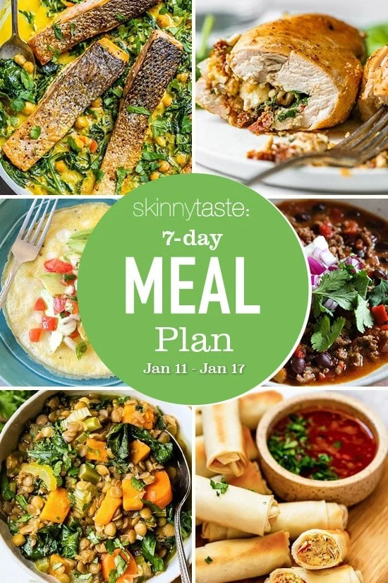 7 Day Healthy Meal Plan (Jan 11-17)