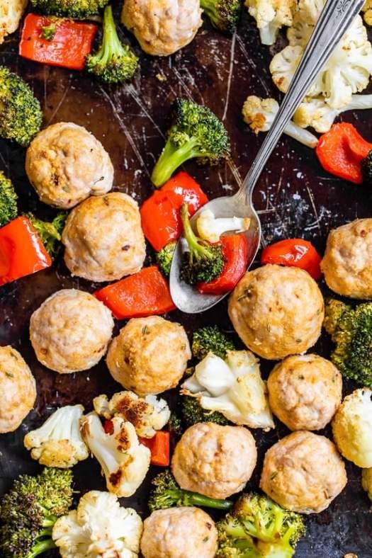 Italian Turkey Meatball Sheet Pan