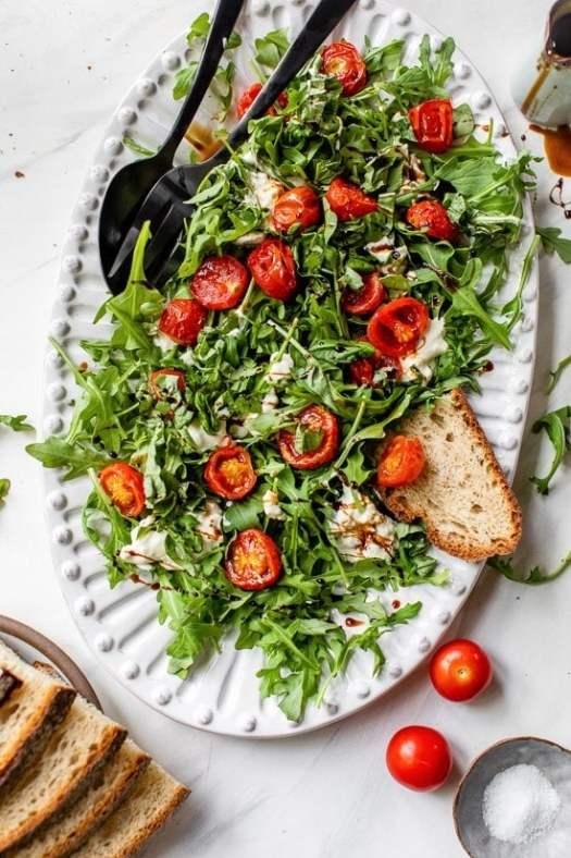 Burst Tomato Burrata Caprese Salad