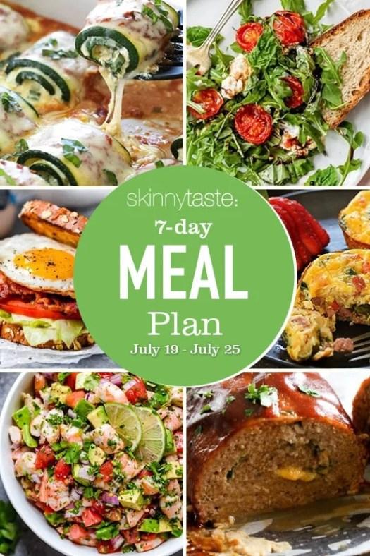 Skinnytaste Meal Plan (July 19-July 25) 2