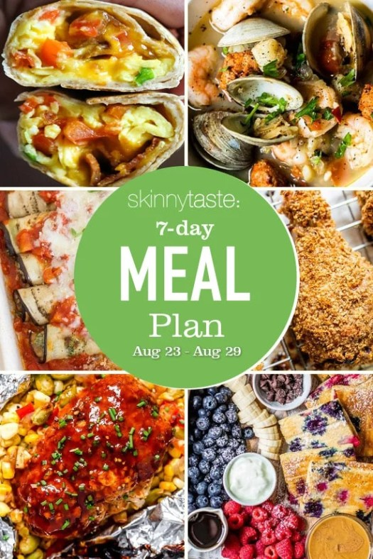 7 Day Healthy Meal Plan (August 23-29) 3