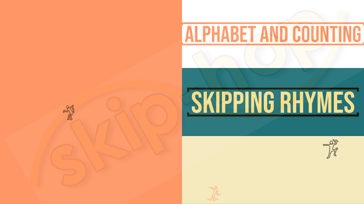 skipping rhymes alphabet and counting