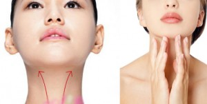 woman doing Chin liposuction