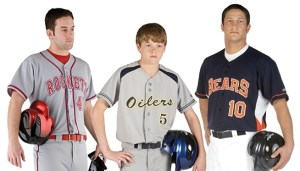 baseball player with different uniform