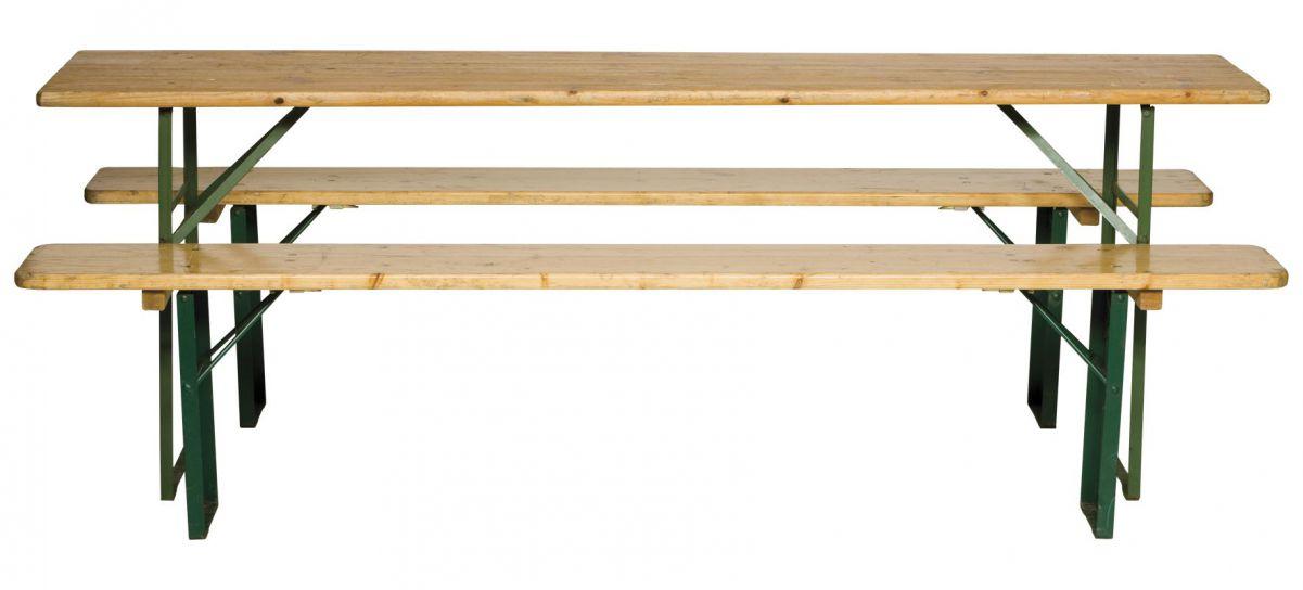 Biertafel (70cm) met 2 banken (aanbieding)