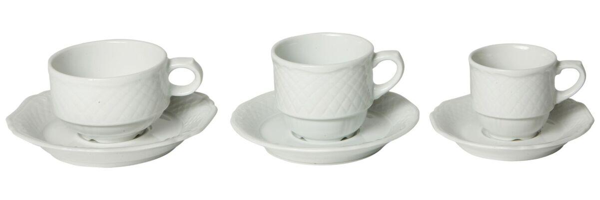 Koffiekop, schotel en lepel Classic