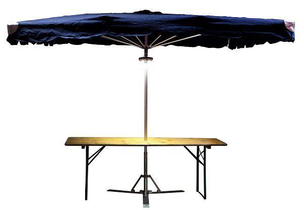 Klaptafel 70 x 220cm met parasolgat ø 50mm