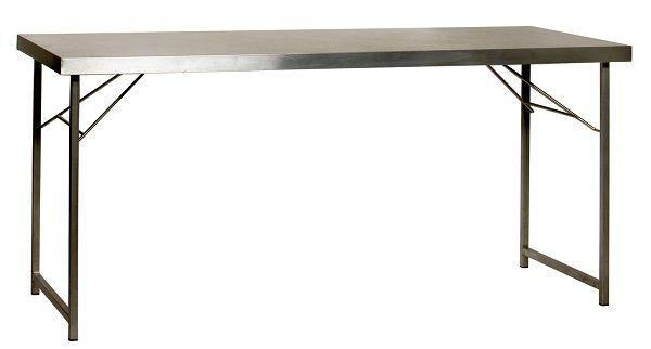 Werktafel rvs 80 x 190 cm