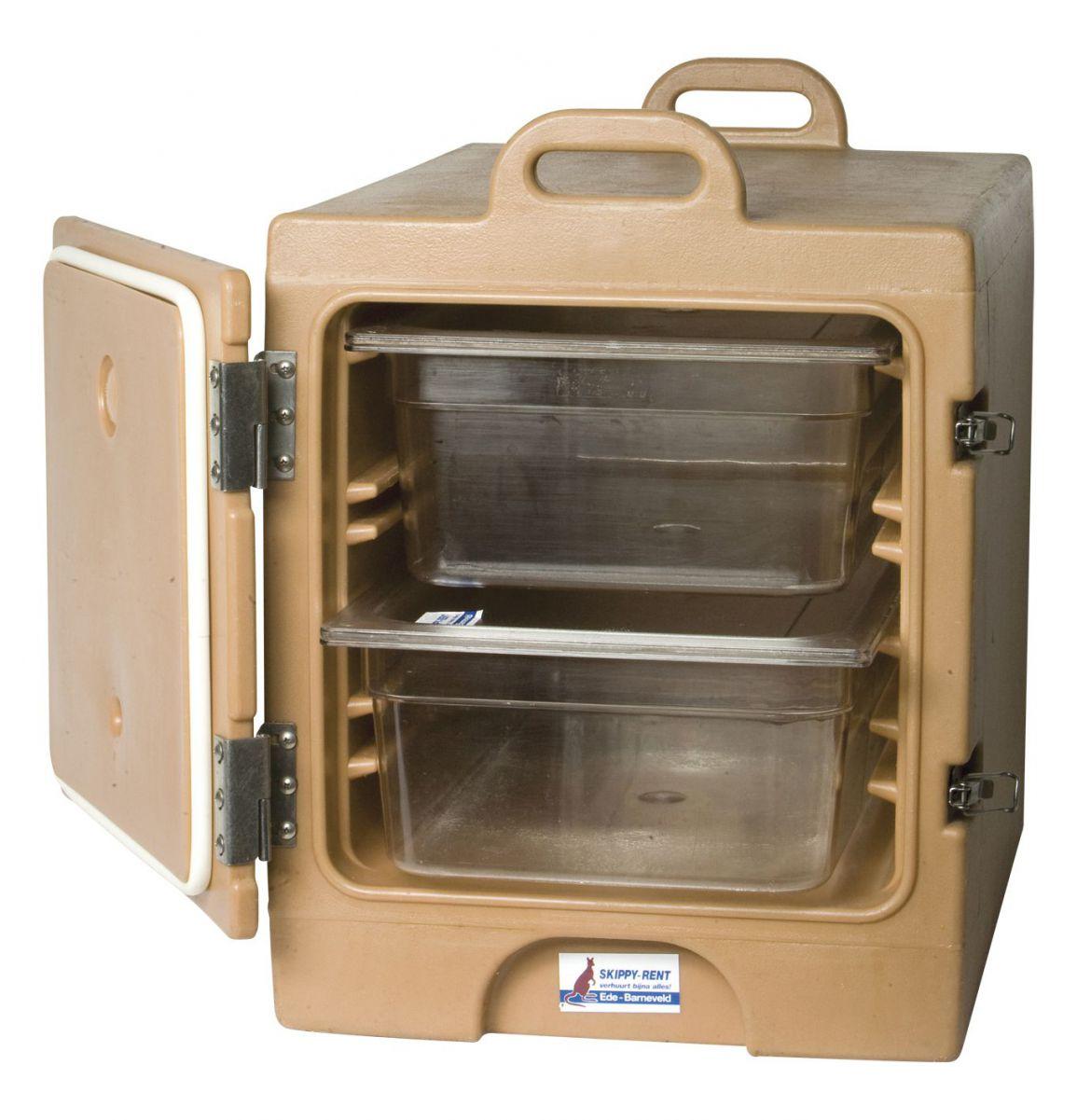 Voedselcontainer bruin incl. 2×1/1 GN kunststof inzet