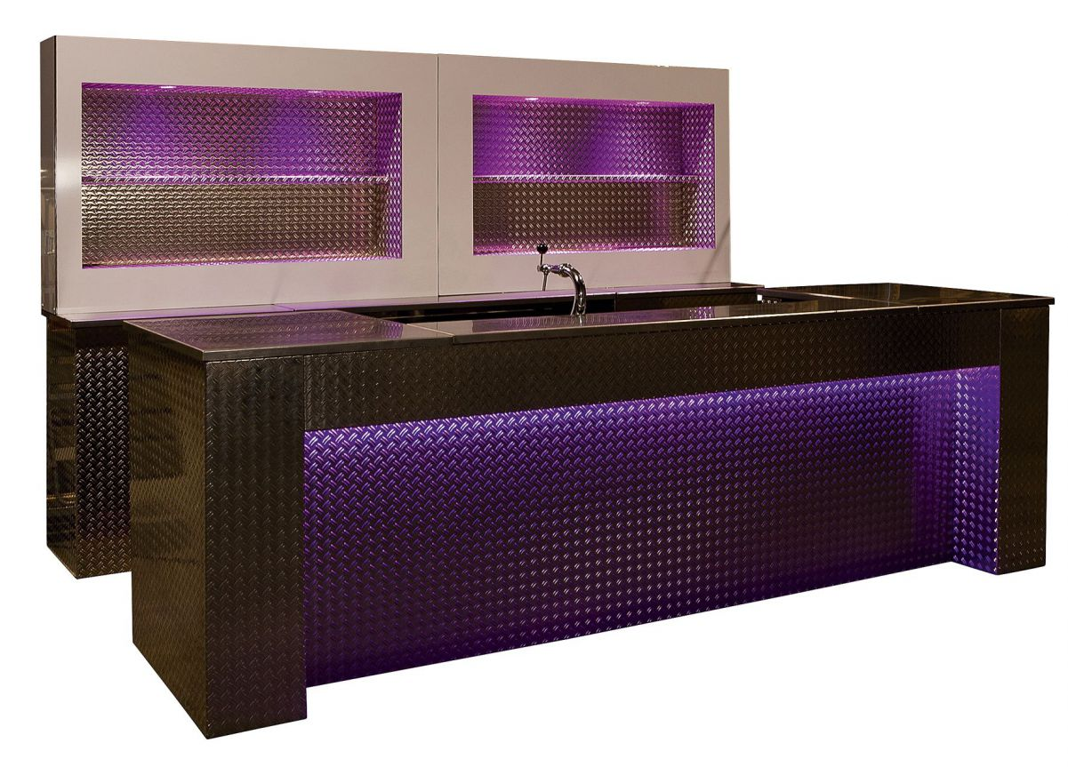 Designbar met LED achterwand