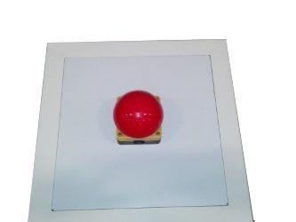 Drukknop op zuil