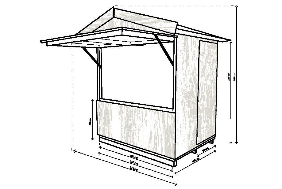 Kassa huisje – Blokhut