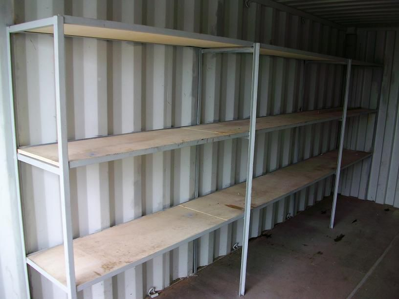 Stelling t.b.v. opslagcontainer 20 ft