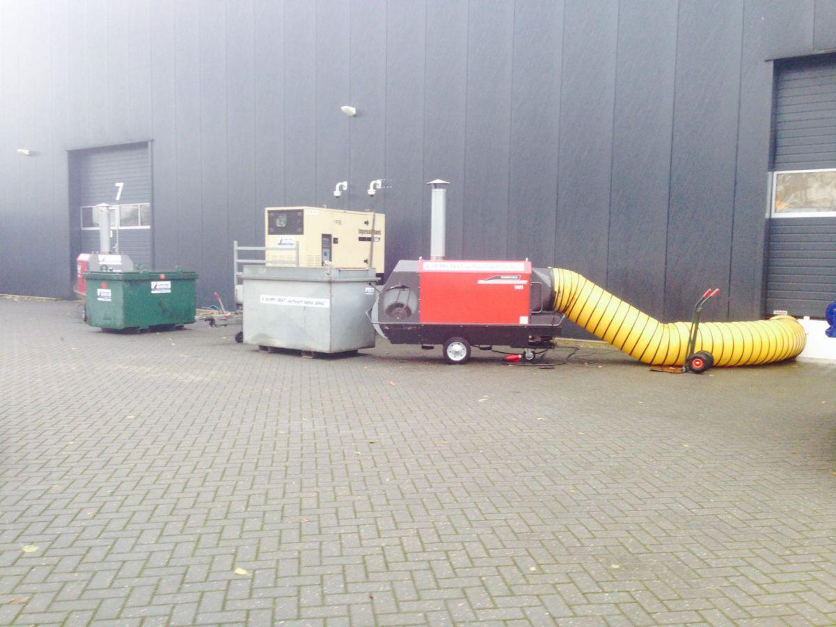 Indirect gestookte heater 185 kW radiaal – 400V