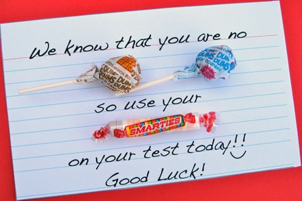 Candy Gram Encouragement For Kids Taking Tests Skip To