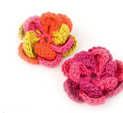 Crochet Hair Styles Step By Step : ... crochet flower step by step tutorial 6 crochet blossom instructions