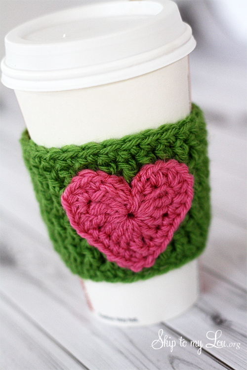 HAPPY Holidays: Handmade Gift Idea: Crochet Heart Coffee ...