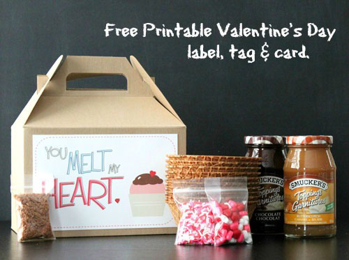 Free Printable Valentines Day Label Tag And Card From