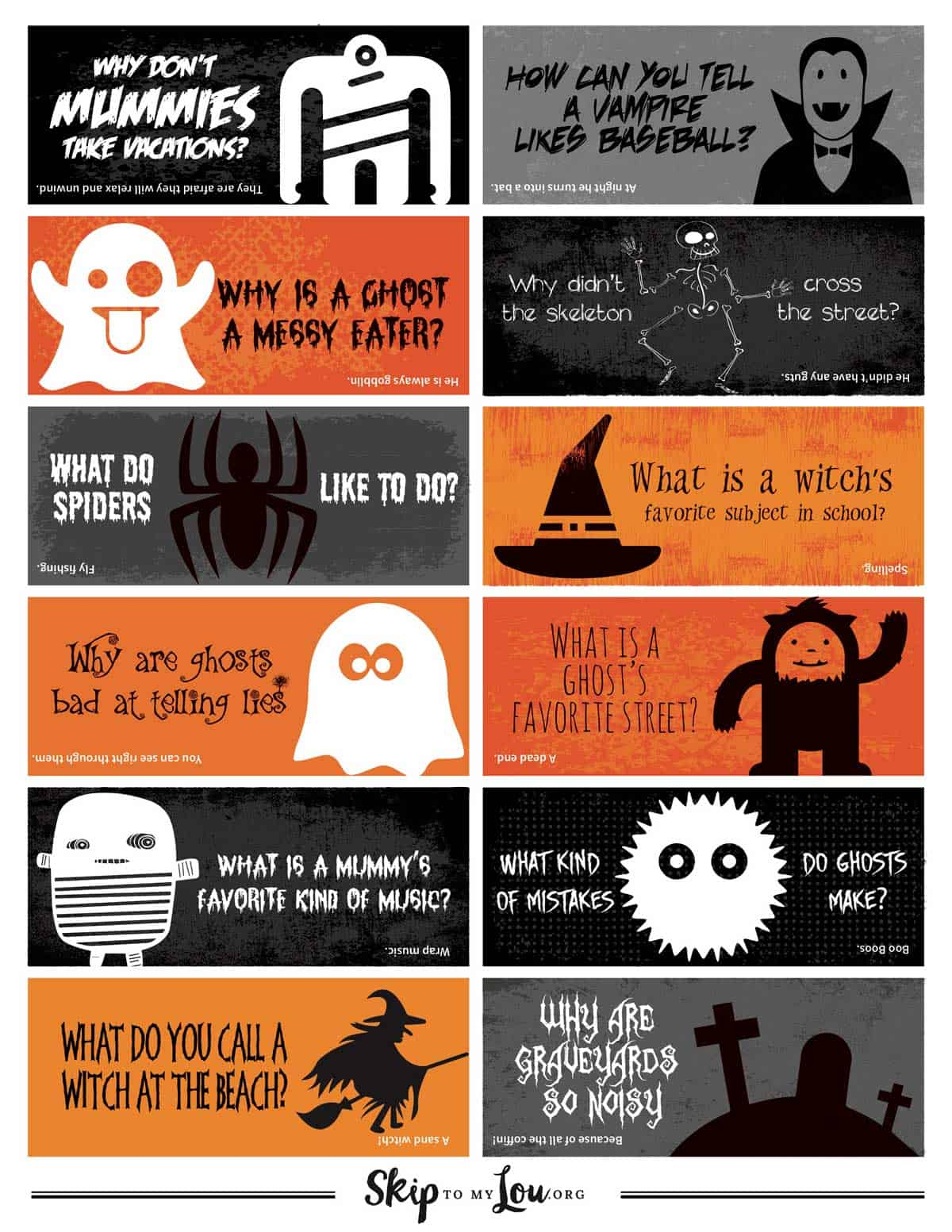 All The Best Halloween Printables Over 40 Freebies