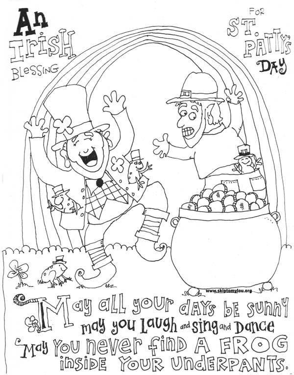 st patrick 39 s day coloring page skip to my lou