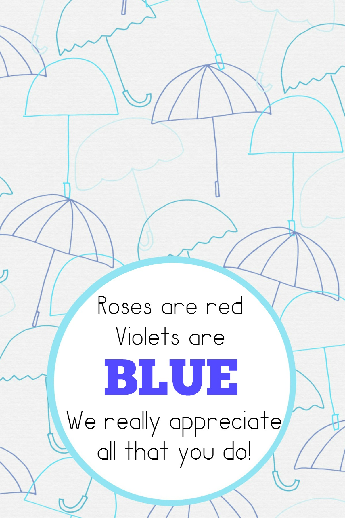 Violets Are Blue Free Teacher Appreciation Printable