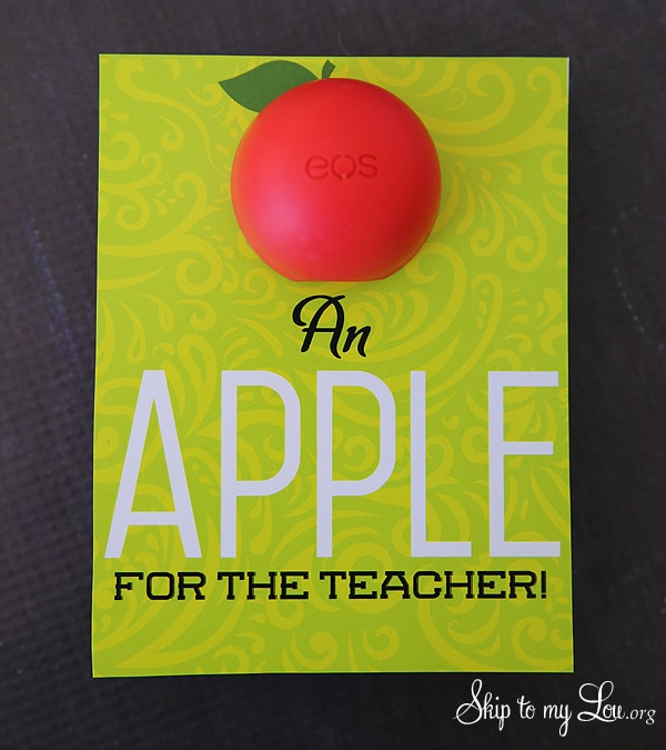 EOS Apple For The Teacher Gift Skip To My Lou