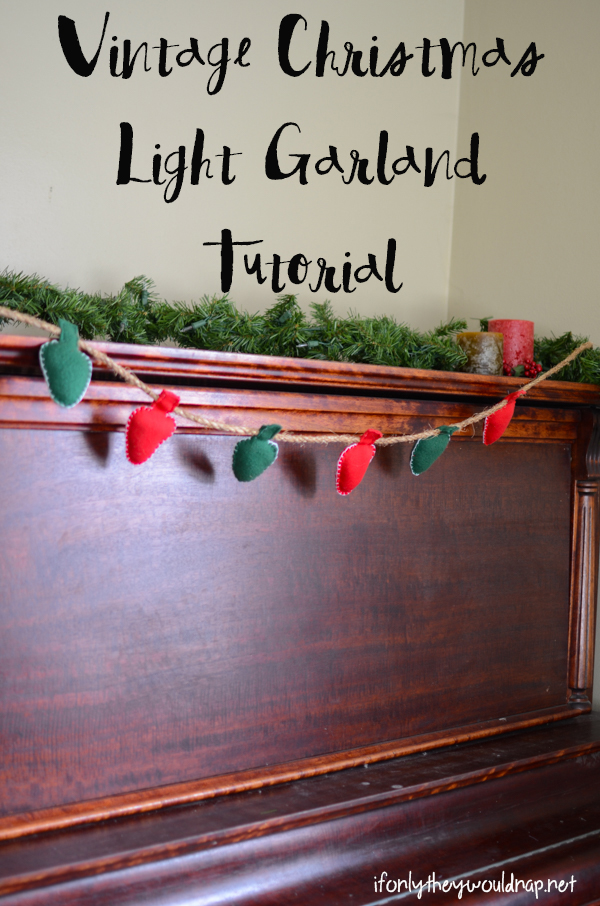 Make a vintage Christmas light garland with this easy tutorial