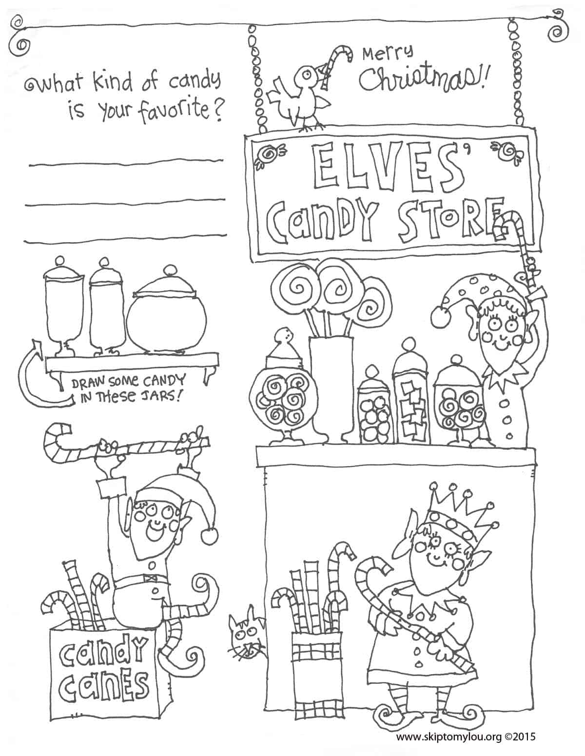 Christmas Coloring Sheet