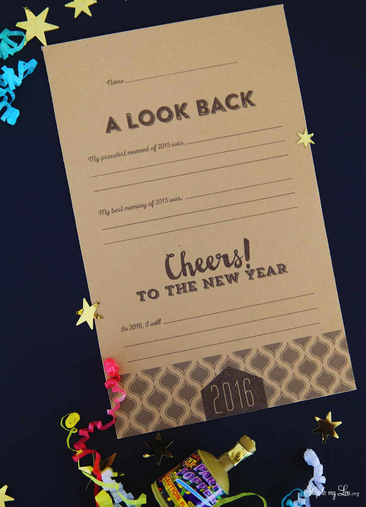 New Years Printable Resolution Cards