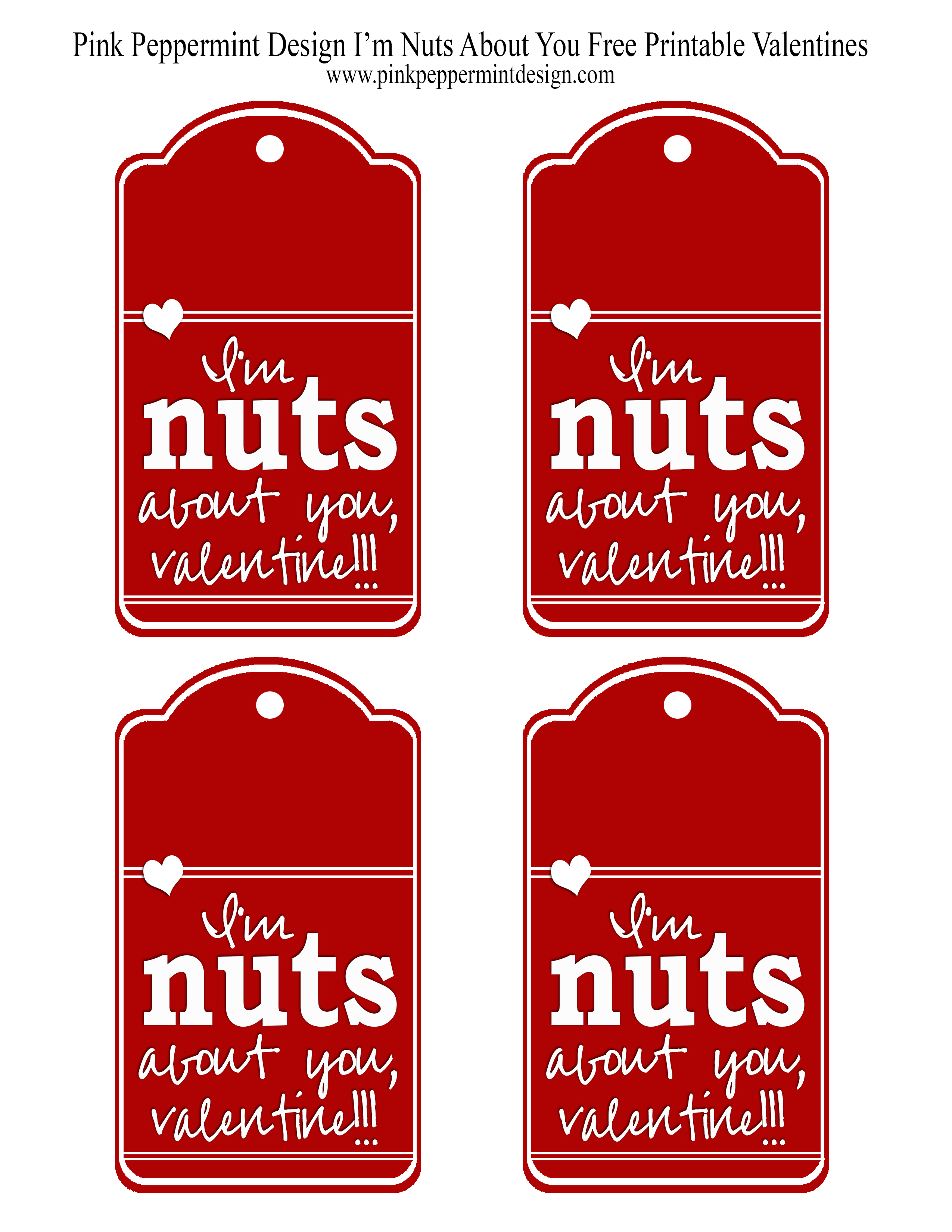 I M Nuts About You Free Printable Valentine