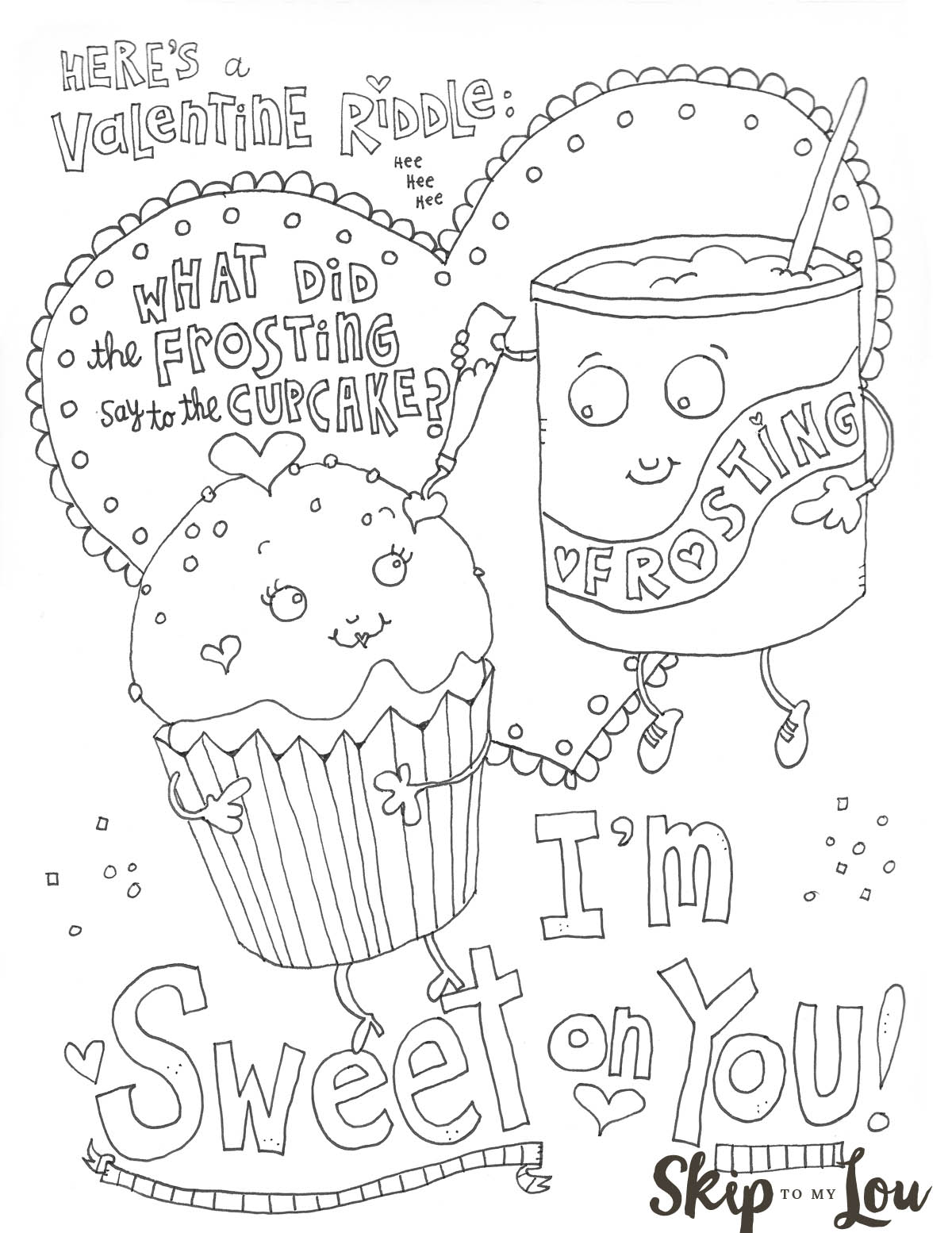 Valentine Coloring Sheet