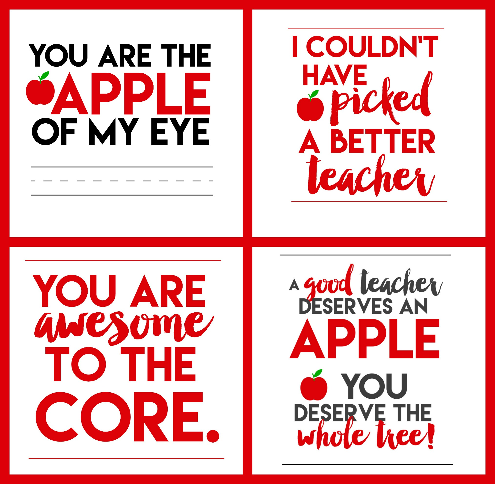 You Are Awesome To The Core Teacher Printable