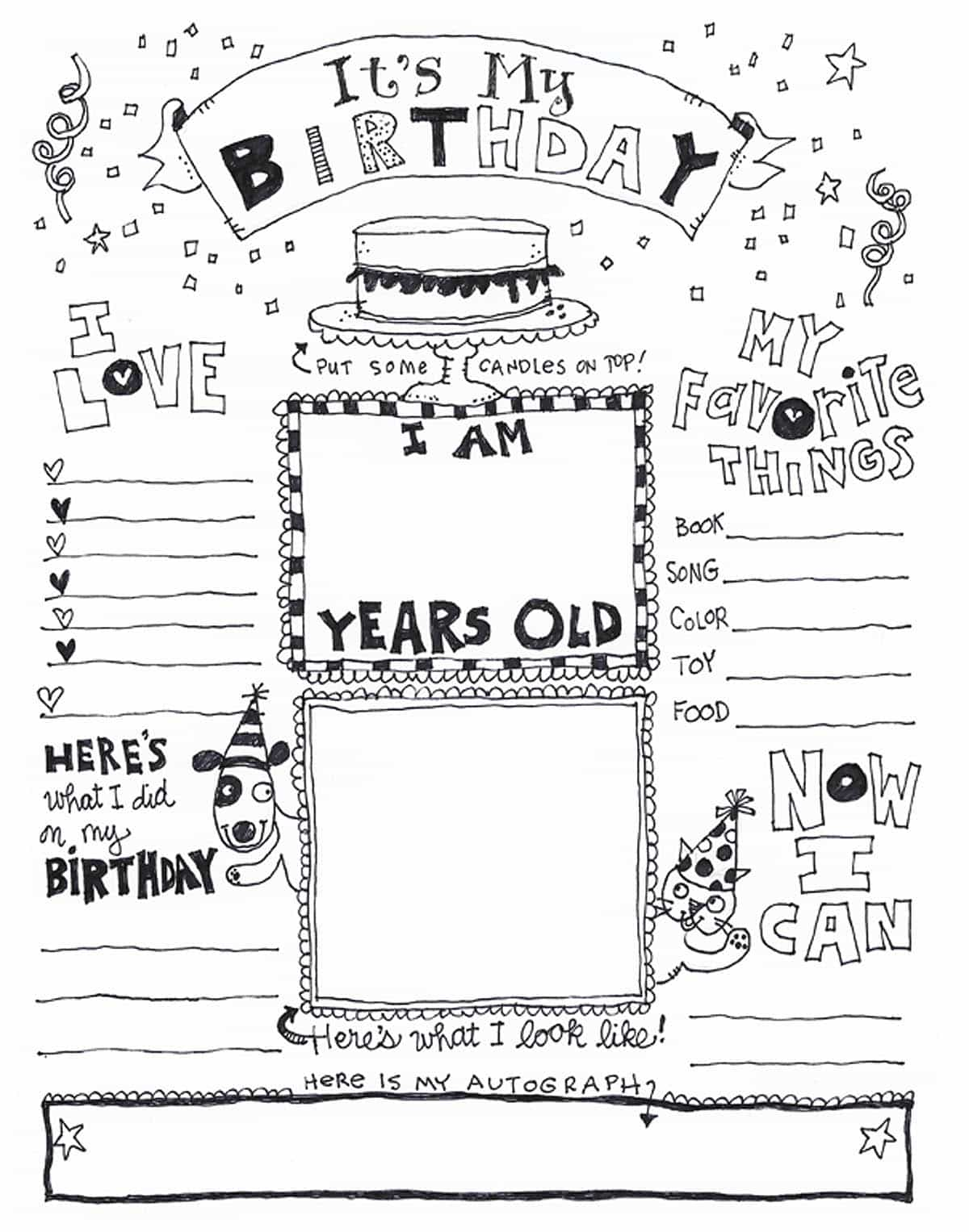 Happy Birthday Coloring Page Skip To My Lou