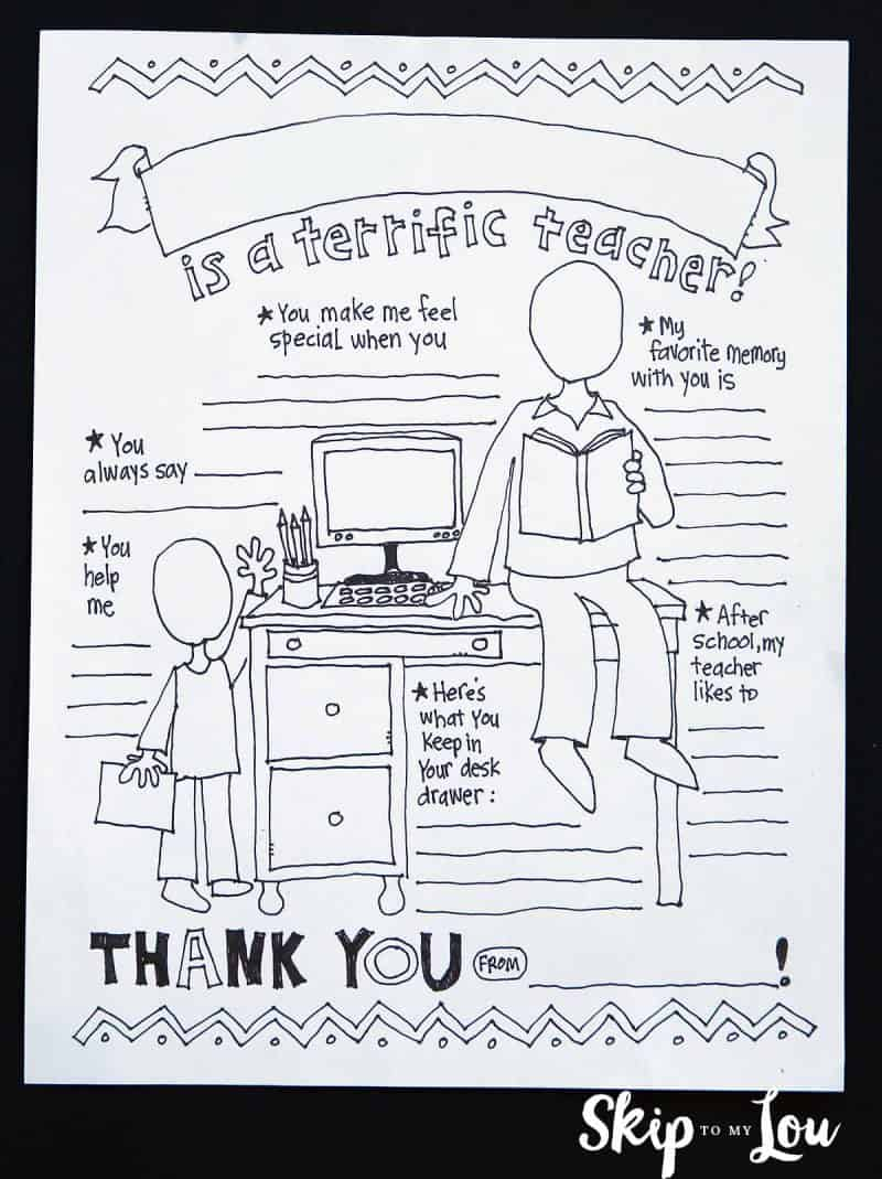 Best Teacher Coloring Page For The Best Teacher Ever